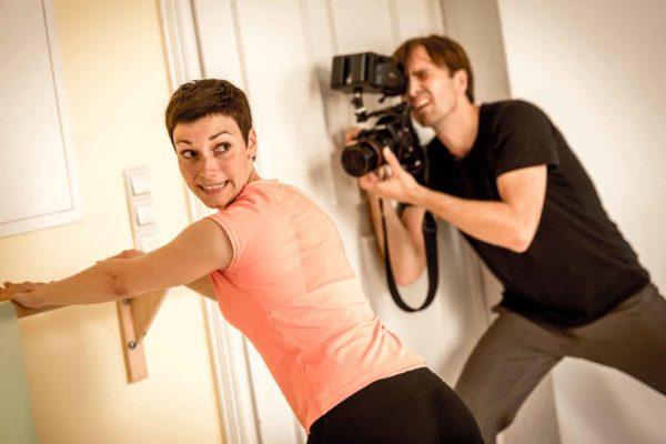 Pilates Video-Dreh